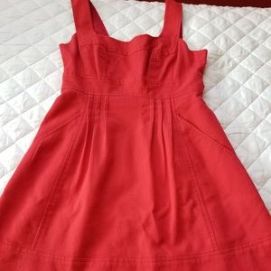 Nanette Lepore Red Cotton Dress 6